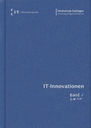 it-Innovationen Sommersemester 2011 Band 7 - Hochschule ...
