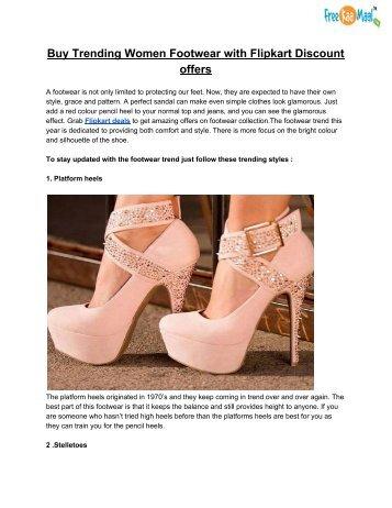 Buy Trending Women Footwear with Flipkart Discount offers