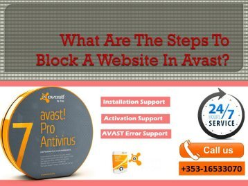 What Are The Steps To Block A Website In Avast