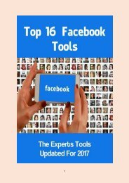 Top 16 Facebook Tools