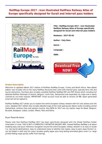 Download E-Book RailMap Europe 2017   Icon illustrated RailPass Railway Atlas of Europe specifically designed for Eurail Full Collection