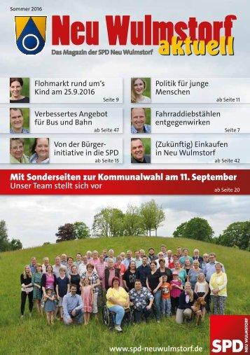 Neu Wulmstorfer aktuell Sonderausgabe Kommunalwahl 2016