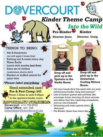 Dovercourt Summer 2017 week 9 camp newsletters