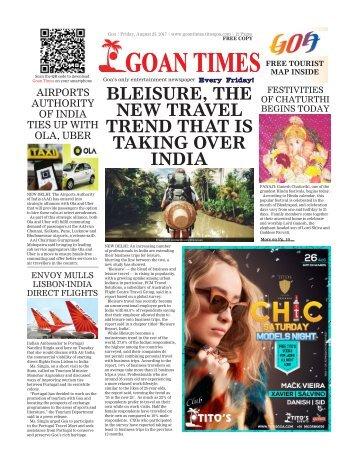 GoanTimes August, 25th 2017