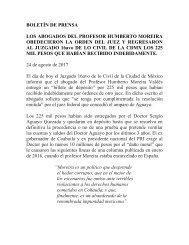 BOLETÍN DE PRENSA 24 de agosto de 2017