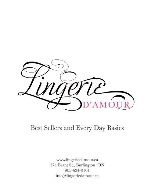 lingerie damour basics look book