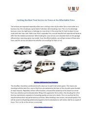 Getting the Best Taxi Service in Town at An Affordable Price