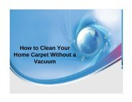 How to Clean Your Home Carpet Without a Vacuum