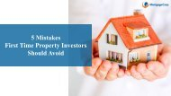 5 Mistakes First Time Property Investors Should Avoid