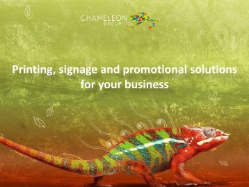 Printing, signage and promotional solutions for your business