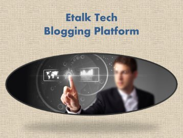 Etalk Tech Blogging Platform