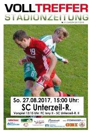 1. Ausgabe Stadionzeitung 2017/18