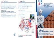 Leben! und informiert sein - UKSH  Universitätsklinikum Schleswig ...