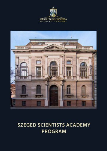 Szeged Scientists Academy School Programme
