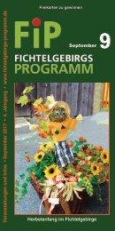 Fichtelgebirgs-Programm - September 2017