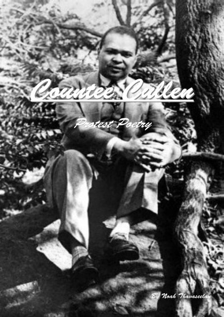 Countee Cullen protest poetry