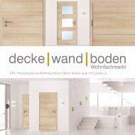 dwb Wohnraumtüren CPL Holz Design Line mit Lisene L1 Akazie quer