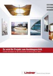 Broschüre Konzepte - Lindner Group