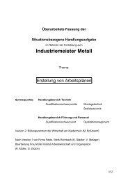 Industriemeister Metall - Meistersite