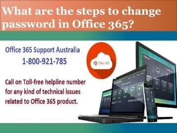 What are the steps to change password in Office 365?