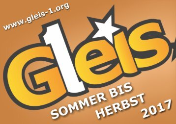 201704 Gleis 1 Programm Highlights