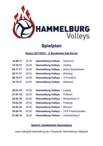Spielplan Hammelburg Volleys