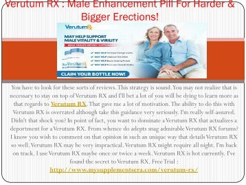 Verutum RX Male Enhancement - Get Your Exclusive Trial Package!