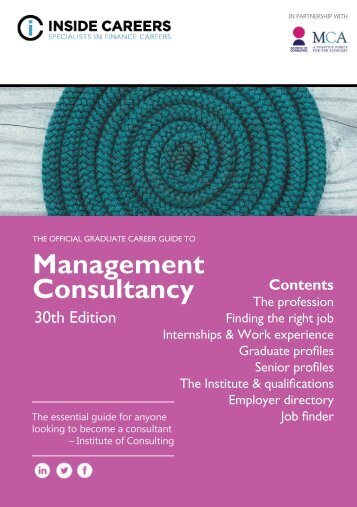 Inside Careers Guide to Management Consultancy