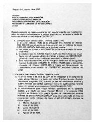 Solicitud por parte de los expresidentes Pastrana y Uribe al fiscal, para investigar supuestos pagos que se habrían hecho a campaña Santos 2014 por parte de Odebrecht