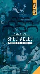 Brochure 2017-2018 Ville d'Alma SPECTACLES