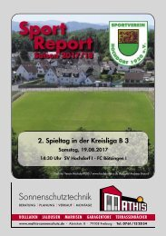 Sport Report - SV Hochdorf - Sonntag 19.08.2017