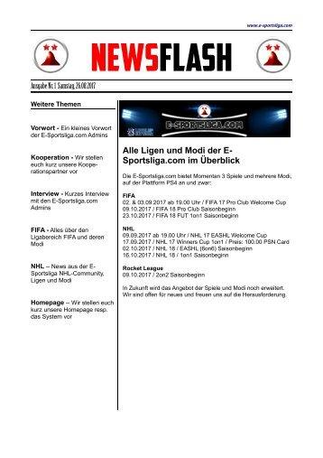 Newszeitung E-Sportsliga