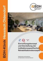 Einrichtungskonzept (PDF) - BDH Klinik Hessisch-Oldendorf