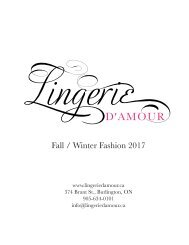 Lingerie D'Amour Fall/Winter 2017 look book