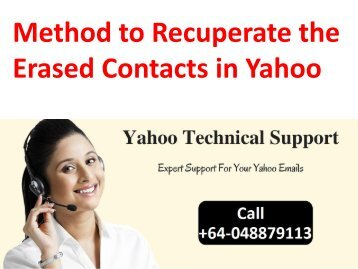 Method to Recuperate the Erased Contacts in Yahoo