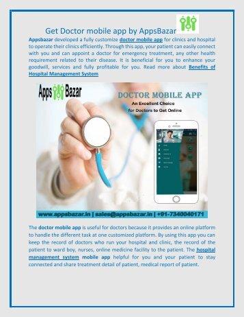 Get Doctor mobile app by AppsBazar