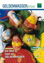 Kundenmagazin Wasser, Ausgabe 1/2006 (PDF ... - Gelsenwasser AG
