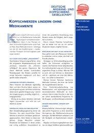 kopfschmerzen lindern ohne medikamente - Deutsche Migräne