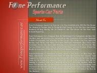 Sports Car Parts - Fone Performamce
