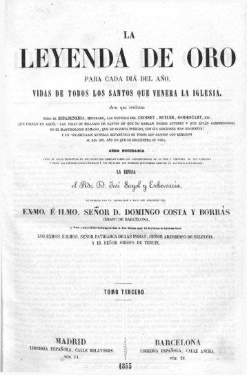 Tomo Tres Leyenda de Oro -Vidas de Los Martires-