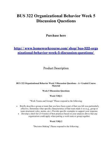 Organizational Behavior Concepts In Criminal Justice Settings