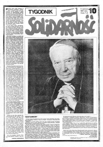 TYGODNIK SOLIDARNOŚĆ - NR 10/81