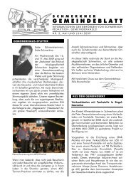 PDF: Gemeindeblatt vom Mai/Juni 2009 - Gemeinde Schmerikon