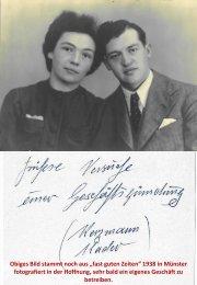 Krieg vereitelte dauernd Geschäftsgründung von Hans und Franziska Löhrer