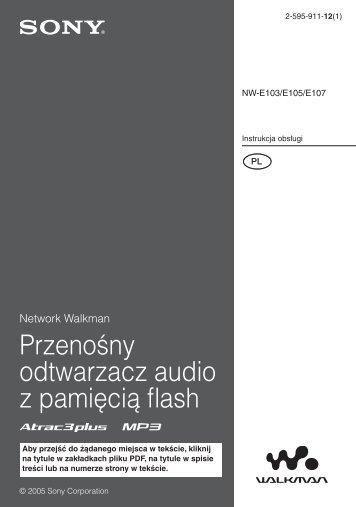 Sony NW-E105 - NW-E105 Istruzioni per l'uso Polacco