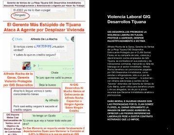 Alfredo Rocha de la Garza, Gerente de Ventas de La Rioja Tijuana GOLPEADOR VIOLENTO INCOMPETENTE GIG Desarrollos Delincuente