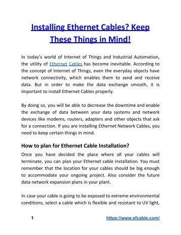 Installing Ethernet Cables? Keep These Things in Mind!