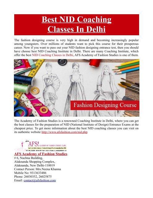 Best Nid Coaching Classes In Delhi