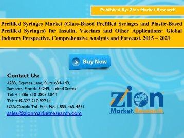 Prefilled Syringes Market, 2015 – 2021