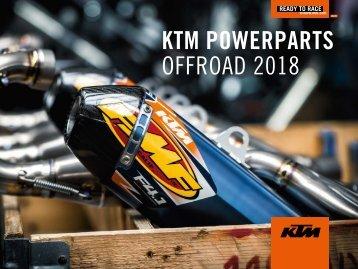 Catalogo KTM PowerParts Off Road 2018 - Italiano